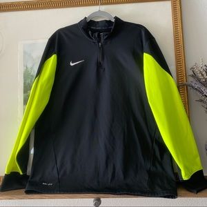 RARE Nike Dry Fit 1/4 ZIP Popover Sweater Neon